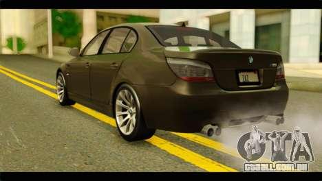BMW M5 E60 2009 para GTA San Andreas esquerda vista