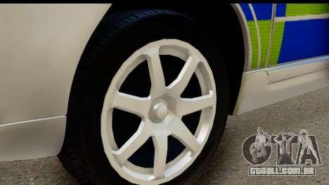 Volvo V70 Kent Police para GTA San Andreas vista traseira
