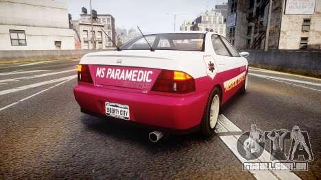 Dinka Chavos Paramedic para GTA 4 traseira esquerda vista