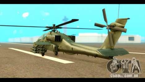 Boeing AH-64D Apache para GTA San Andreas esquerda vista