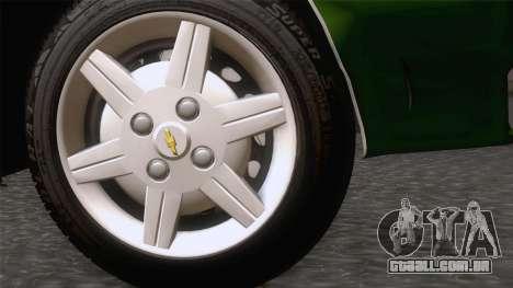 Chevrolet Corsa Classic 2009 para GTA San Andreas traseira esquerda vista