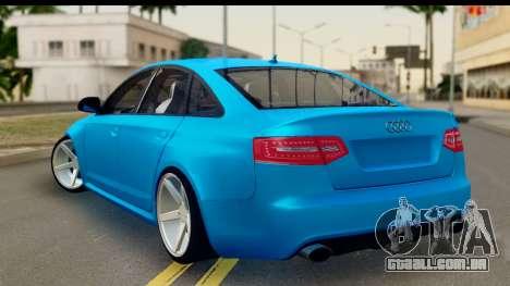 Audi RS6 Vossen para GTA San Andreas esquerda vista