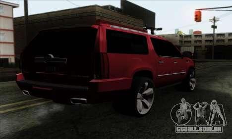 Cadillac Escalade 2013 para GTA San Andreas esquerda vista