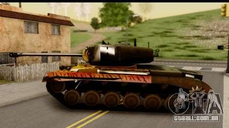 M26 Pershing Tiger para GTA San Andreas esquerda vista