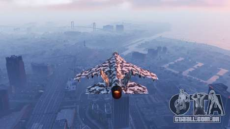 GTA 5 Hydra black & white camouflage terceiro screenshot