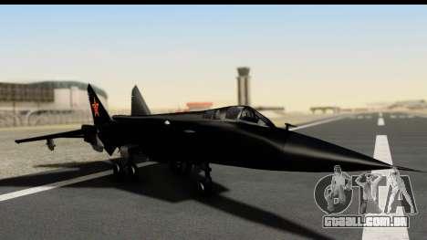 Mikoyan-Gurevich MIG-31 China Air Force para GTA San Andreas