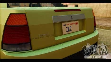 GTA 4 Presidente para GTA San Andreas vista traseira