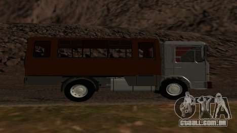 Roman Bus Edition para GTA San Andreas vista direita