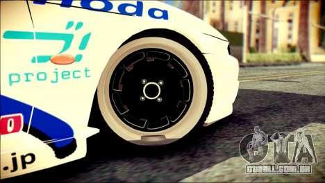 Nissan Silvia S14 Umi Sonoda Paintjob Itasha para GTA San Andreas traseira esquerda vista