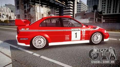 Mitsubishi Lancer Evolution VI 2000 Rally para GTA 4 esquerda vista