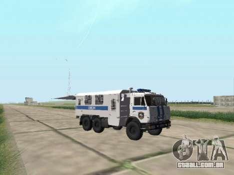 KamAZ-43114 um OMON para GTA San Andreas vista traseira