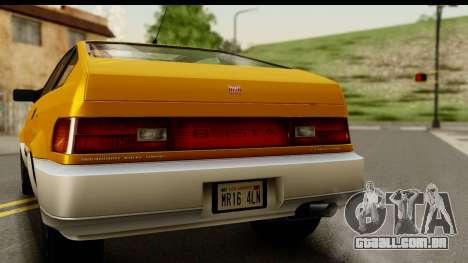 GTA 4 Blista Compact para GTA San Andreas vista direita