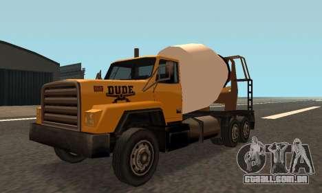Cement Truck Fixed para GTA San Andreas esquerda vista