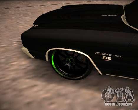 Chevrolet El Camino SS Green Hornet para GTA San Andreas vista direita