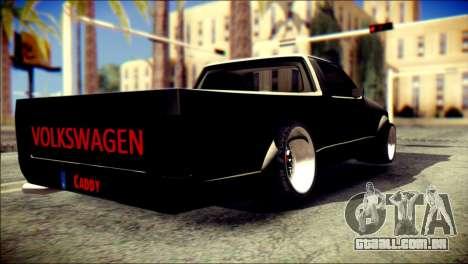 Volkswagen Caddy Widebody Top-Chop para GTA San Andreas esquerda vista