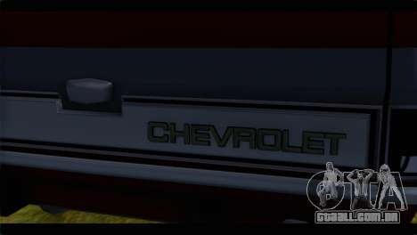 Chevrolet C10 Low para GTA San Andreas vista traseira