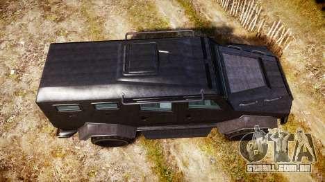 GTA V HVY Insurgent para GTA 4 vista direita