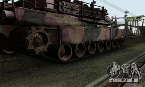M1A2 Abrams Autumn Camo para GTA San Andreas vista traseira