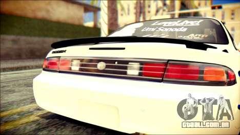 Nissan Silvia S14 Umi Sonoda Paintjob Itasha para GTA San Andreas vista traseira