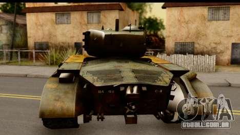 M26 Pershing Tiger para GTA San Andreas traseira esquerda vista
