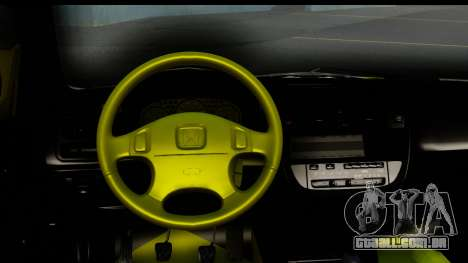 Honda Civic 1.4 Taxi para GTA San Andreas vista interior