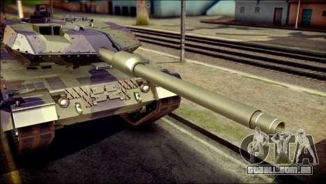 Leopard 2A6 PJ para GTA San Andreas vista traseira