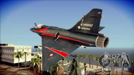 Dassault Mirage 2000-10 Black para GTA San Andreas esquerda vista