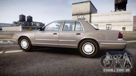 Ford Crown Victoria NYPD Unmarked [ELS] Old para GTA 4 esquerda vista