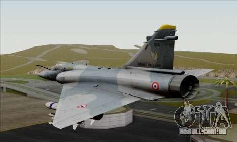 Dassault Mirage 2000-5 ACAH para GTA San Andreas esquerda vista