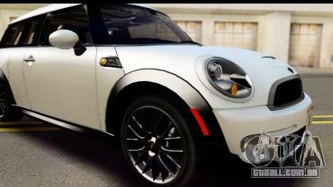 Mini Cooper Clubman 2011 para vista lateral GTA San Andreas