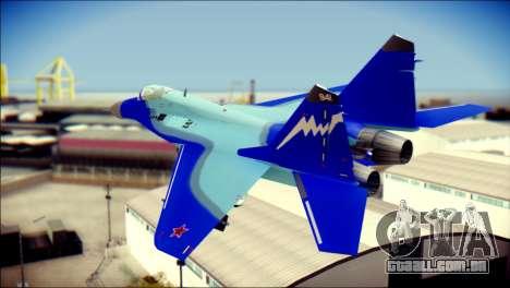 Mikoyan-Gurevich MIG-29K para GTA San Andreas esquerda vista