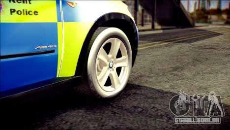 BMW X5 Kent Police RPU para GTA San Andreas traseira esquerda vista