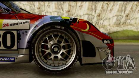 Porsche 911 GT3 RSR 2007 Flying Lizard para GTA San Andreas vista traseira