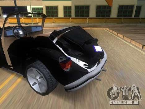 Volkswagen Beetle 1984 para GTA San Andreas vista inferior
