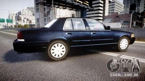 Ford Crown Victoria NYPD Unmarked [ELS] para GTA 4 esquerda vista