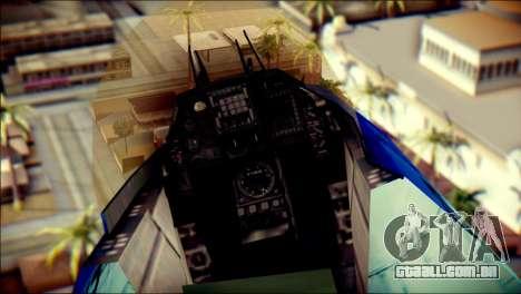 Mitsubishi F-2A JASDF v3.0 para GTA San Andreas vista traseira