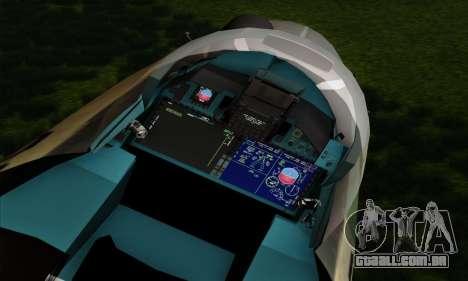 SU-35 Flanker-E ACAH para GTA San Andreas vista traseira