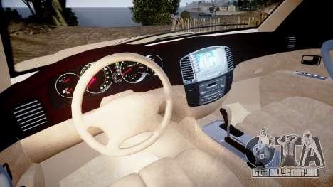 Toyota Land Cruiser 100 UEP [ELS] para GTA 4 vista de volta