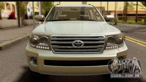 Toyota Land Cruiser 200 2013 para GTA San Andreas traseira esquerda vista