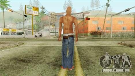 Tupac Shakur Skin v3 para GTA San Andreas segunda tela