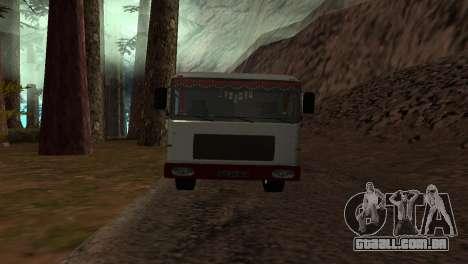 Roman Bus Edition para GTA San Andreas traseira esquerda vista