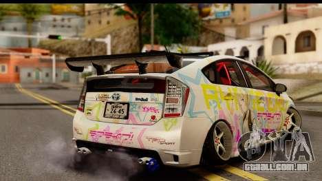 Toyota Prius Hybrid Eri Ayase Love Live Itasha para GTA San Andreas esquerda vista