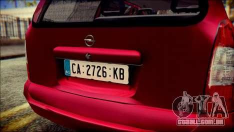 Opel Astra G Caravan para GTA San Andreas vista traseira