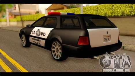 Stratum Police Highway v1.0 para GTA San Andreas esquerda vista