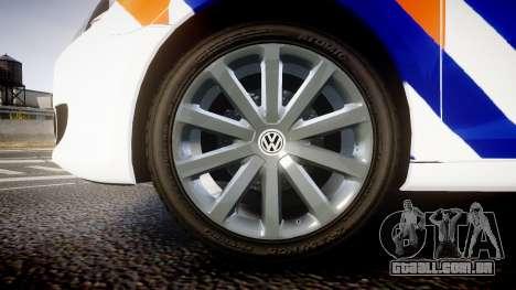 Volkswagen Golf Mk6 Dutch Police [ELS] para GTA 4 vista de volta