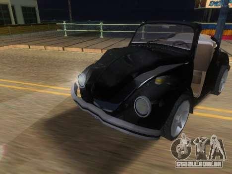 Volkswagen Beetle 1984 para GTA San Andreas vista superior