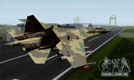SU-35 Flanker-E ACAH para GTA San Andreas esquerda vista