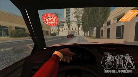 Karin Primo Police para GTA San Andreas traseira esquerda vista