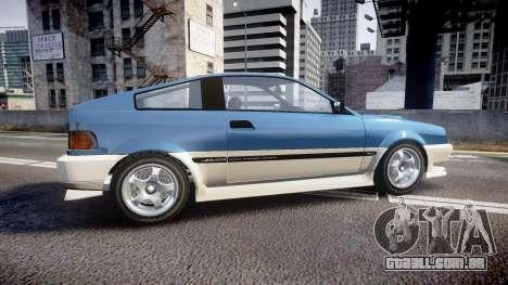 Dinka Blista Compact R para GTA 4 esquerda vista