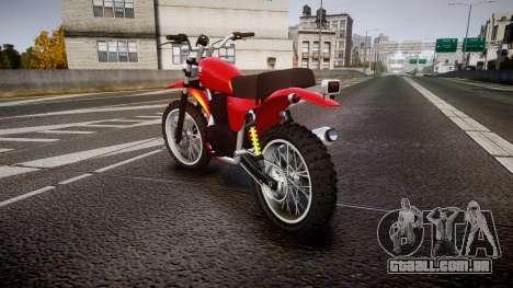 GTA V Dinka Enduro para GTA 4 traseira esquerda vista